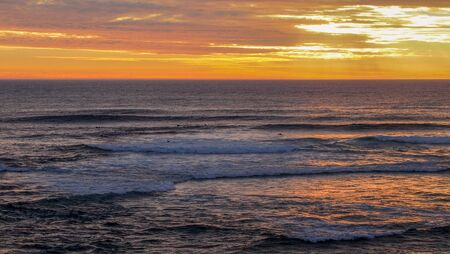 beautiful colorful sunset at the beach in Margaret River, Western Australia 版權商用圖片