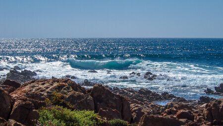 Rough coastline in Margaret River, Western Australia