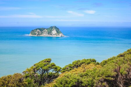 Scenic landscape at East Cape Lighthouse, East Cape, North Island, New Zealand