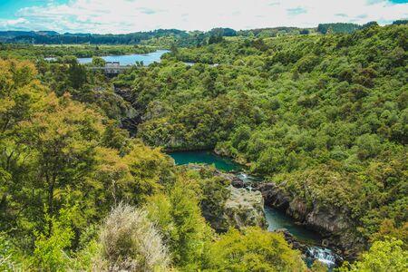 View over Aratiatia Rapids in Taupo, North Island, New Zealand
