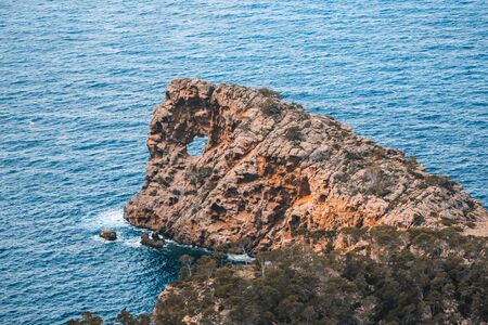 Sa Foradada at the western coast of Mallorca, Spain