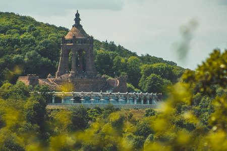 Emperor William Monument on top of Wittekindsberg near the city of Porta Westfalica, North Rhine Westphalia, Germany