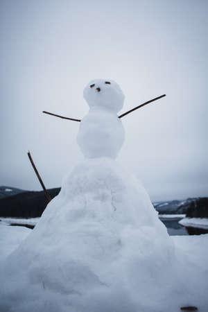 Small version of a snowman. Фото со стока