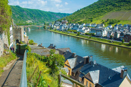 Cochem. A small picturesque town at Moselle river in Rhineland-Palatinate, Germany. Editorial