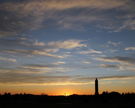 jones: Jones Beach water tower and sunset