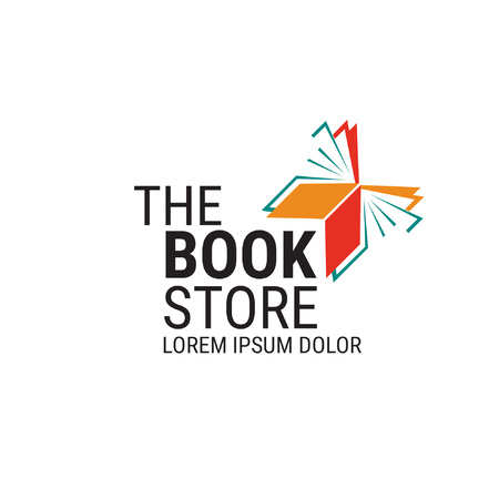 the book store logo - fly Foto de archivo - 120721901