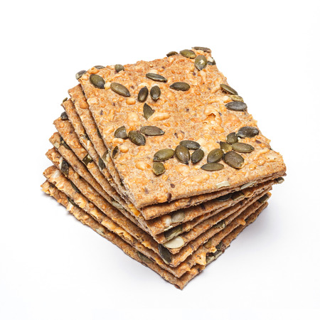 Crackers with Emmental cheese and sunflower, pumpkin, linseed and sesame seeds  photo