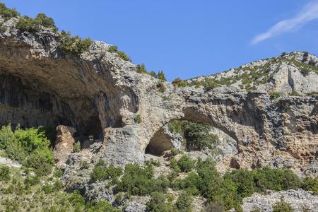 The Ventanales, Mascun Ravine, Sierra de Guara, Spain  Stock Photo