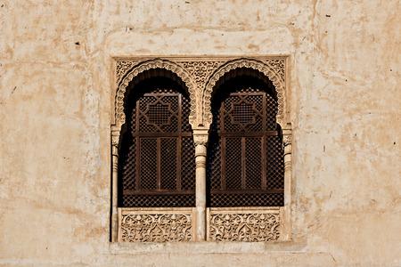 Lattices windows in the Alhambra in Granada Spain