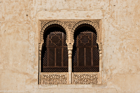 designates: Lattices windows in the Alhambra in Granada Spain