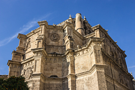 View of the apse of the monastery of Saint Hieronymus Granada Spain Editorial