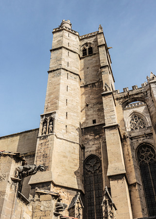 Bell tower of the Gothic cathedral of Narbonne