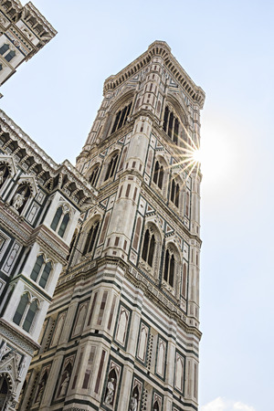 Bell tower of the Cathedral of Florence, Tuscany, Italy
