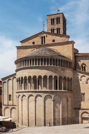 Apse of the church of Santa Maria della Pieve, Arezzo, Tuscany, Italy Stock Photo