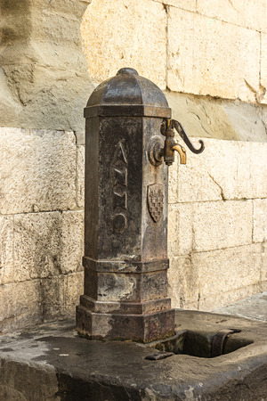 Public fountain in Pistoia, Tuscany, Italy