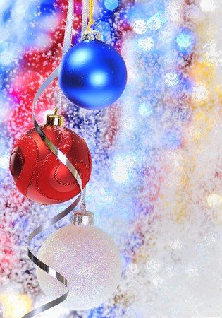 Christmas baubles and ribbons Stock Photo - 8784039