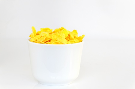 Bowl with corn flake Stock Photo - 8783860