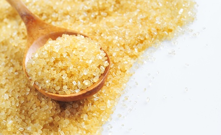 granular: spoon and cane sugar Stock Photo