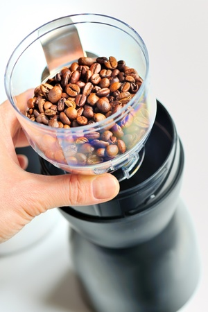 grinder: electric coffee grinder