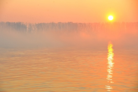 sunrise on Danube Stock Photo - 11931617
