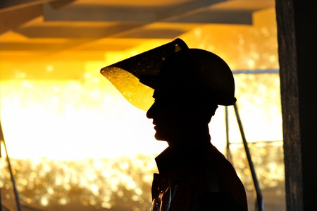 worker with hot steel Stock Photo - 11931687