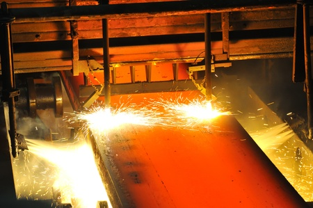 Gas cutting of the hot metal Stock Photo - 11931681