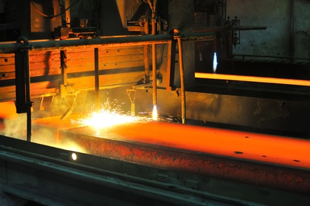 Gas cutting of the hot metal  Stock Photo - 11931690