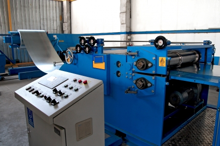 corrugated sheet forming machine Stock Photo - 20778240