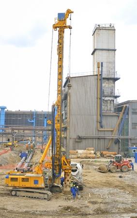 drilling crane construction site Stock Photo - 20766073