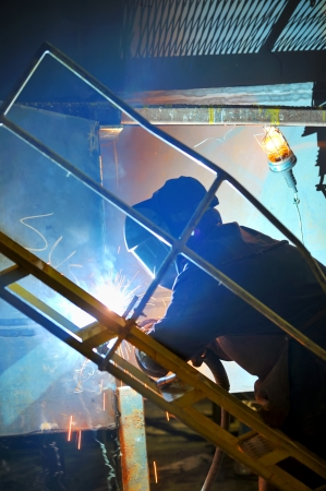 welding with mig-mag method Stock Photo - 16476257