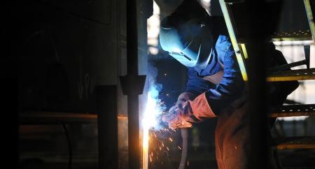 welding with mig-mag method Stock Photo - 16473774