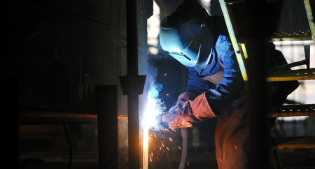 welding with mig-mag method Stock Photo - 16473774
