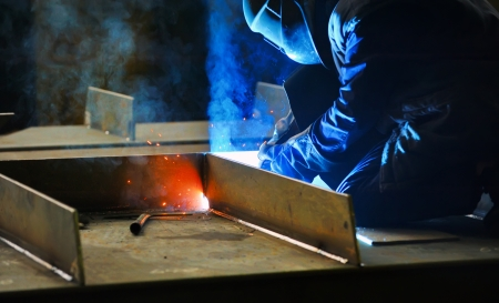 welding with mig-mag method Stock Photo - 16475738