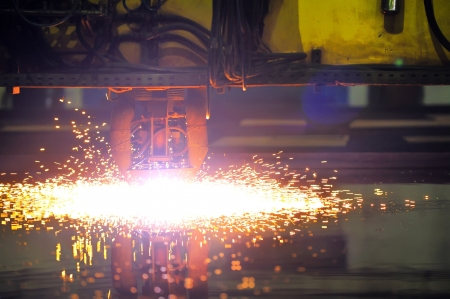 Plasma cutting CNC machine  Stock Photo - 16477739
