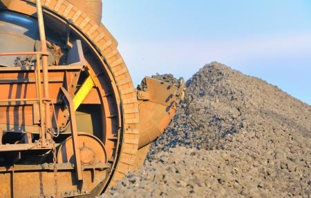 bucket wheel excavator for digging the brown coal Stock Photo - 16477569