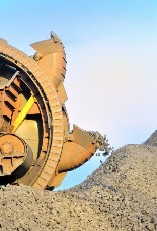 bucket wheel excavator for digging the brown coa Stock Photo - 16476715