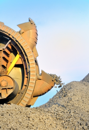 bucket wheel excavator for digging the brown coa Stock Photo - 16476715