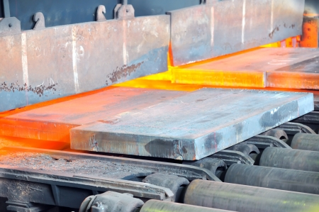 hot steel in oven Stock Photo - 16478430