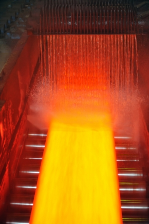 cooling hot steel on conveyor Stock Photo - 16476688