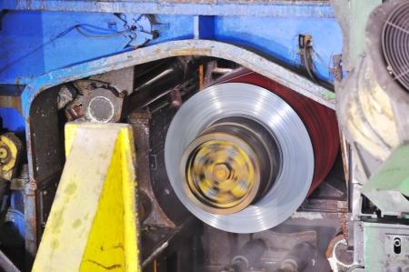 making the rolls of steel sheet photo
