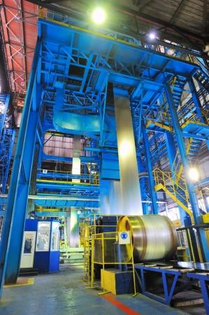making the zinc rolls of steel sheet Stock Photo - 16425353