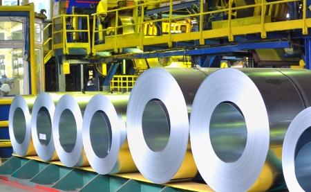 rolls of zinc steel sheet Stock Photo - 16475706