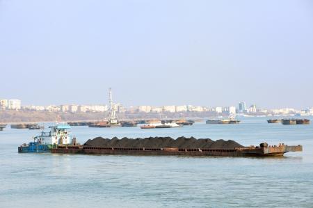 coal in harbor on danube river Stock Photo - 16476609