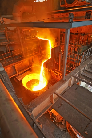 pouring molten steel Stock Photo - 16477021