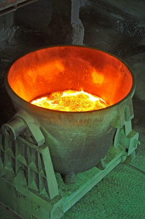 steel bucket to transport the molten metal Stock Photo - 16477657