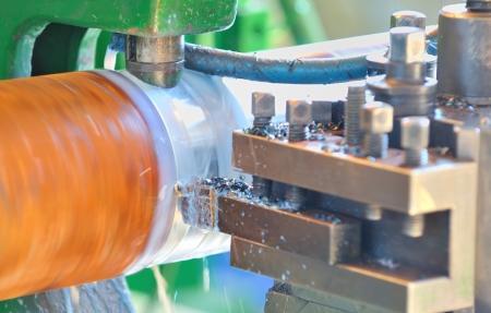 Turning lathe in action Stock Photo - 16475355