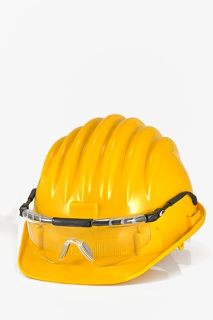 helmet with protection glasses Stock Photo - 20778308