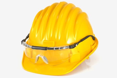 helmet with protection glasses Stock Photo - 20778309