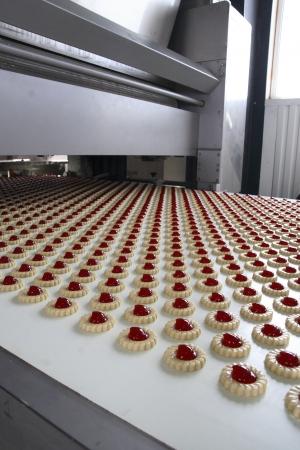 productie cookie in de fabriek