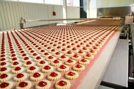 transportador: producci�n en la f�brica de galletas